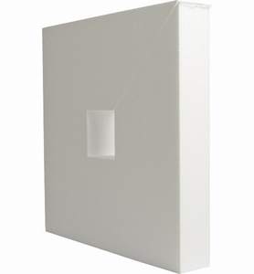 Styropor vierkant 32,5x32,5cm, dikte 5cm, met gat 5x5cm