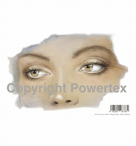 Powertex laserprint 378 For your eyes only (ogen vrouw) A4