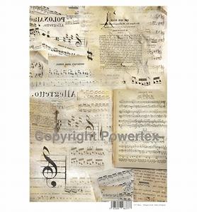 Powertex laserprint 377 Music (in spiegelbeeld) A3