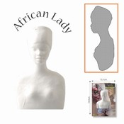 Powertex African collection 0092 African Lady volle buste