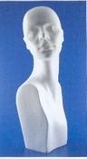 """Styropor hoofd vrouw met buste """"omkijkend"""" 55cm"""