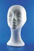 Styropor hoofd vrouw halflange hals 32cm