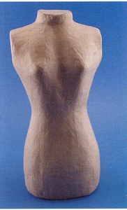 Papier-mache torso vrouw art. 9396D