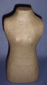 Papier-mache torso vrouw