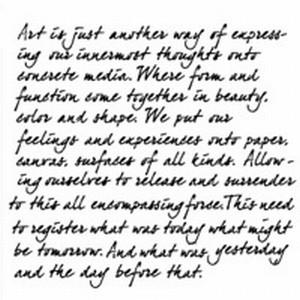 Stencil 12 inch. Gedicht over Art TCW31044849