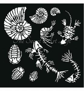Powertex Fossilized Stencil 0500