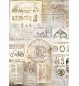 Powertex Silk Paper 0301 Mechanism  47x35cm