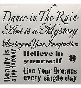 Powertex Stencil 12 inch. 0508 Dance in the Rain