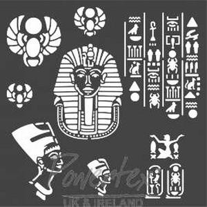 Stencil 12inch Egypte Wonderful Things stencil art.22498  30x30cm