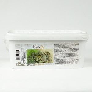 NIEUW Powertex Sand 0298 grootverpakking  ca.2,5kg  emmer 2,5kg