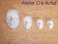 Gietvorm 10 maskers/gezichten HT62701910