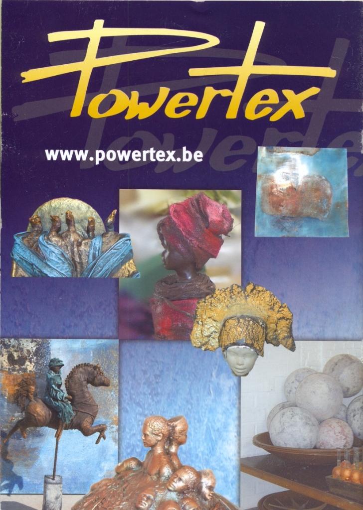 Speciaal decoratie Powertex, o.a. Brigitte Grade