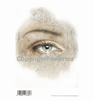 Powertex laserprint 380 The eye of hope (oog vrouw)