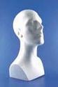 Styropor hoofd man buste 40cm