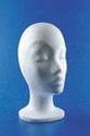 Styropor hoofd vrouw korte hals 30cm
