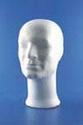 Styropor hoofd man ''de luxe'' 30cm
