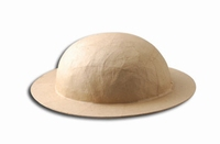 Papier-mache hoed smalle rand art. 16711-028
