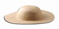 Papier-mache hoed brede rand art. 16711-063