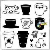 Stencil 12 inch. Cafe Latte 31614347 30x30cm