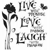 Stencil 12inch. Live Love Laugh 31239527 30x30cm