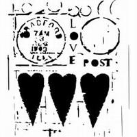 Stencil 12 inch. Post hart 31239511 30x30cm
