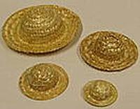 Strohoedje circa 11,5cm (binnenmaat 5,5cm)