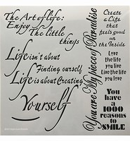 Stencil 12 inch. The Art of Life art.0509