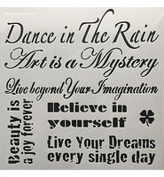 Stencil 12inch Dance in the Rain 30x30cm art. 0508