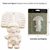 Powertex Inka gipsfiguur 205 Inka god met ''rechte hoofdtooi
