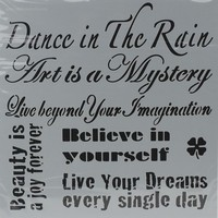 NIEUW Powertex stencil 0508 Dance in the Rain 30x30cm