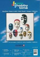 Gietvorm 10 maskers/gezichten HT62701910 4 - 8cm 4, 6 en 8cm