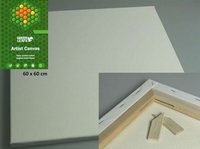 Canvas doek vierkant 60x60cm/1,7cm dik Green Leaves
